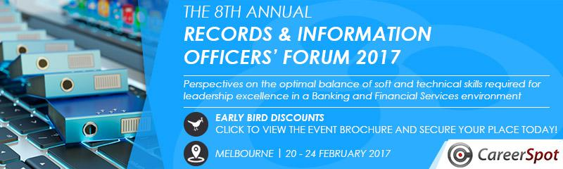 The 8th Annual National Records and Information Officers' Forum 2017