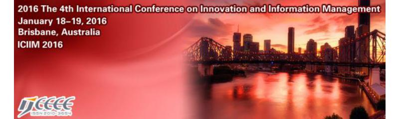 2016 4th International Conference on Innovation and Information Management